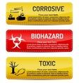 Corrosive Biohazard Toxic - Danger sign set vector image