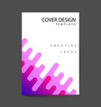 covers with flat dynamic design geometric shapes vector image vector image