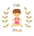 Cute yoga kids card with little girl vector image vector image