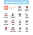 device service repair - modern single line vector image vector image