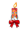 devil christmas candle combined with pita cartoon vector image vector image
