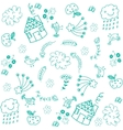 Doodle art for kids green vector image vector image