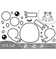 education paper game for children frog vector image vector image