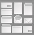 envelopes blank corporate closed and open vector image vector image