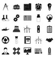 expenses icons set simple style vector image vector image
