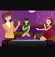 female friends singing karaoke vector image
