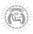 fitness club design vector image