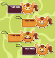 Four cute cartoon Horses stickers vector image
