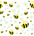 funny yellow bee character children repeating vector image