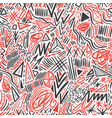 geometric doodle hand drawn seamless pattern vector image vector image