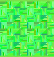 green abstract seamless striped triangle mosaic vector image vector image