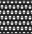 Grunge skulls seamless pattern background