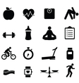 healthy living diet and fitness icons vector image vector image