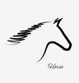 horse silhouette isolated portrait icon vector image vector image