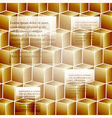 infographic template background with golden cubes vector image vector image