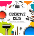 kids art craft education creativity class concept vector image vector image