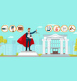 lawyer superman law firm monument flat vector image vector image