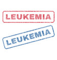 leukemia textile stamps vector image