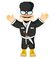 man highlander in national suit vector image vector image