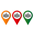 map marker with icon a school vector image vector image