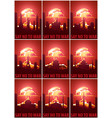 nuclear explosion in the city say no to war set vector image
