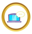 Online computer chat icon vector image