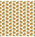 orange funny cartoon vegetable pumpkin seamless vector image