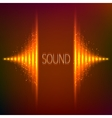Orange neon stereo equalizer vector image