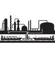 petroleum rafinery sea export terminal vector image