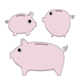 piggy moneybox vector image