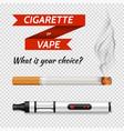 realistic cigarettes set vector image vector image
