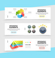 realistic infographic horizontal banners vector image
