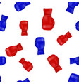 red blue boxing gloves seamless pattern vector image vector image