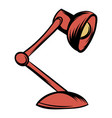 red table lamp icon cartoon vector image vector image
