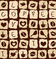 Seamless pattern of coffee puzzle vector image vector image