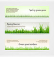 set green grass banners in different shades vector image
