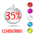 set of christmas tree balls vector image vector image