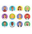 set of people avatar vector image