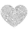 Set of Photo studio cartoon doodle objects vector image vector image