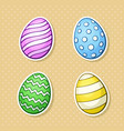 set stickers easter eggs vector image