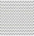 small black polka dot background vector image