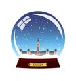 snow globe city canada winter travel vector image