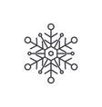 snowflake line icon concept snowflake vector image vector image