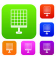solar panel set color collection vector image