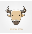 Spanish bull buffalo flat icon Animal head vector image