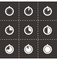 stopwatch icon set vector image vector image