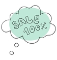 The sale vector image vector image