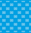 turkish carpet pattern seamless blue vector image vector image