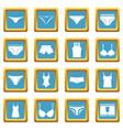 underwear items icons azure vector image vector image