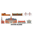 united states new york staten island flat vector image vector image